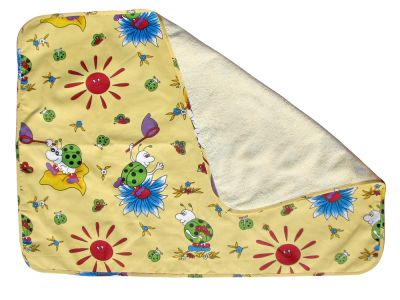 Детская водонепроницаемая пеленка двухсторонняя с детским рисунком ЭКО-ПУПС (пел-2, 65х90см)